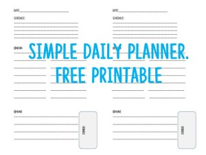 Picture of Simple Daily Planner